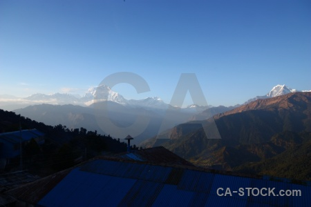 Dhampus peak asia nepal landscape mountain.