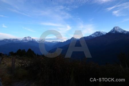 Dhampus peak dhaulagiri sky annapurna ghoreapani.