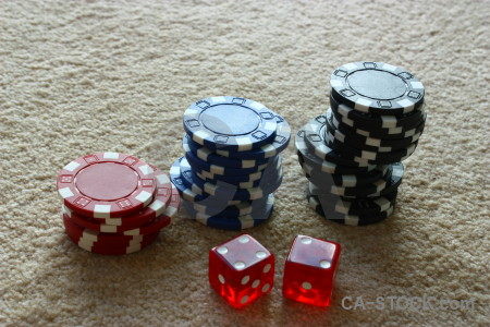 Dice poker red object chip.