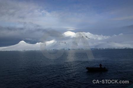Dinghy mountain antarctica cruise palmer archipelago zodiac.