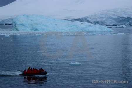 Dinghy sea antarctica cruise zodiac antarctic peninsula.