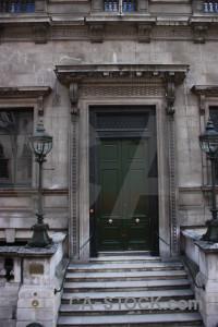 Door building gray.