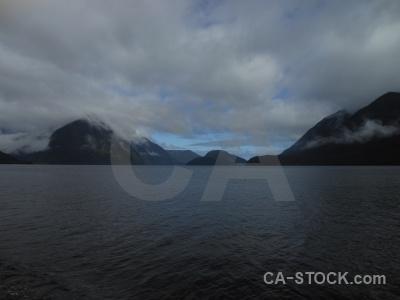 Doubtful sound new zealand south island cloud fiord.