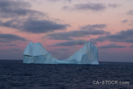 Drake passage sunrise sky water iceberg.