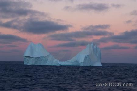 Drake passage sunrise sky water iceberg.