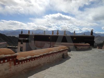 Drepung monastery asia altitude tibet mountain.
