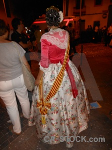 Dress javea person fiesta building.