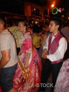Dress person javea fiesta building.