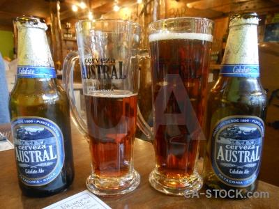 Drink beer bottle punta arenas glass.
