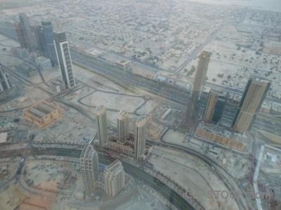 Dubai aerial burj khalifa road western asia.