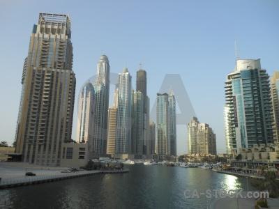 Dubai asia canal sky water.