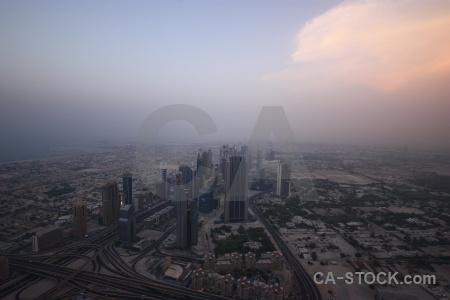 Dubai building burj khalifa cityscape middle east.