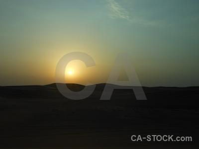Dubai desert sun middle east sunrise.
