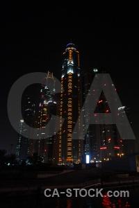Dubai light building uae western asia.