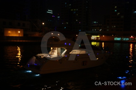 Dubai middle east light marina canal.