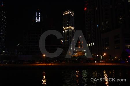 Dubai middle east marina light asia.