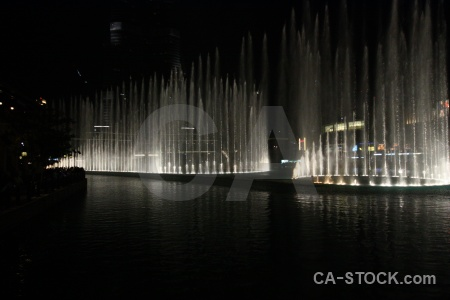 Dubai uae fountain asia night.