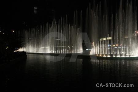 Dubai uae fountain asia night.