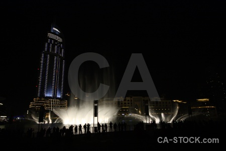 Dubai uae fountain skyscraper asia.