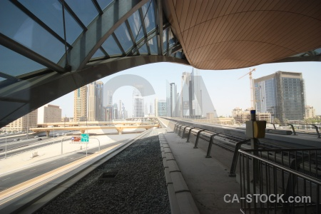 Dubai western asia building middle east metro.