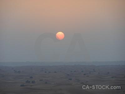 Dubai western asia sand uae sunrise.