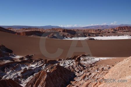 Dune mountain landscape cordillera de la sal rock.