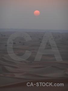 Dune western asia dubai uae sunset.