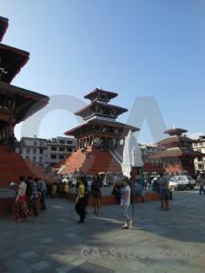 Durbar square kathmandu buddhism sky asia.