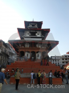 Durbar square person asia buddhist building.