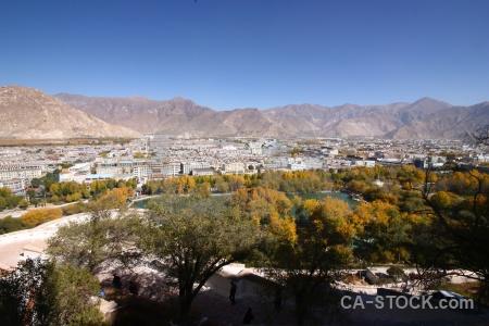 East asia building landscape tibet mountain.