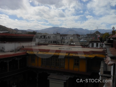 East asia cloud tibet building jokhang temple.