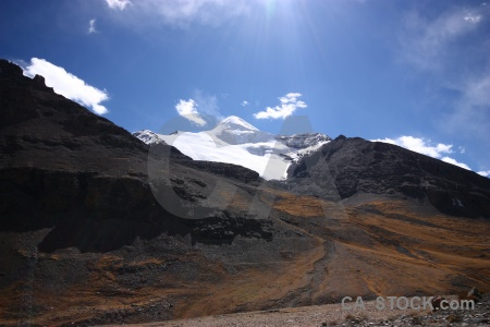 East asia desert dry mountain cloud.