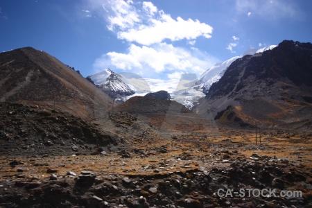 East asia desert snowcap himalayan altitude.