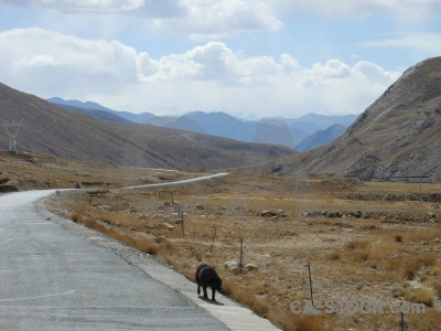East asia road cloud tibet himalayan.