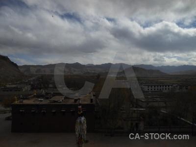 East asia shekar gyantse tibet cloud pholkor.