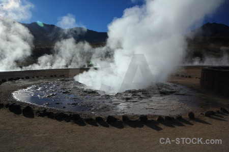 El tatio andes mountain chile atacama desert.