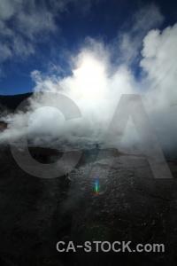El tatio geyser chile andes mountain.