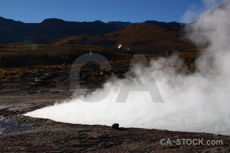 El tatio geyser chile rock south america.