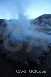 El tatio geyser sky chile mountain.