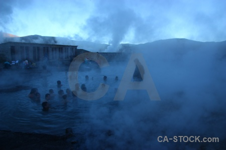El tatio pool atacama desert chile south america.