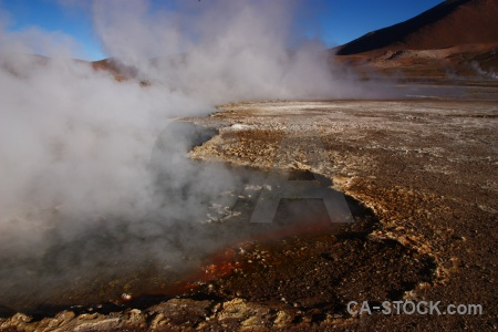 El tatio rock chile steam andes.