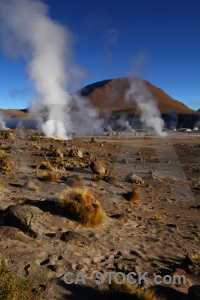 El tatio south america bush steam mountain.
