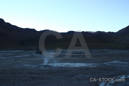 El tatio south america sky steam rock.