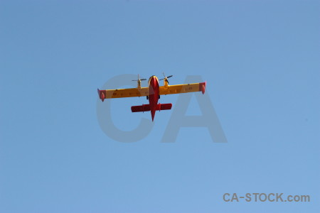Europe airplane montgo fire javea spain.