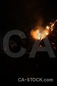 Europe black firework spain javea.