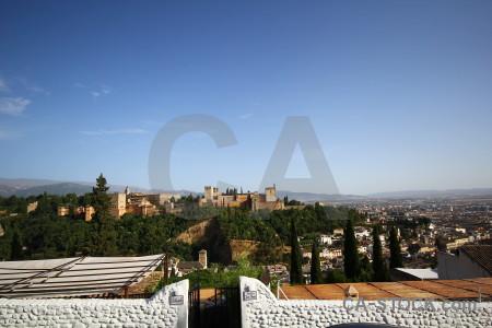 Europe blue alhambra spain granada.