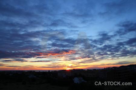 Europe blue spain cloud sunrise.