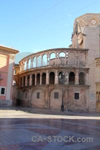 Europe church valencia building cyan.