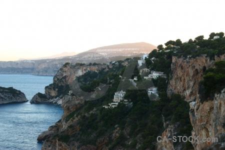 Europe cliff sea water rock.