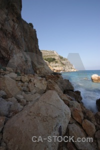 Europe cliff water javea sea.